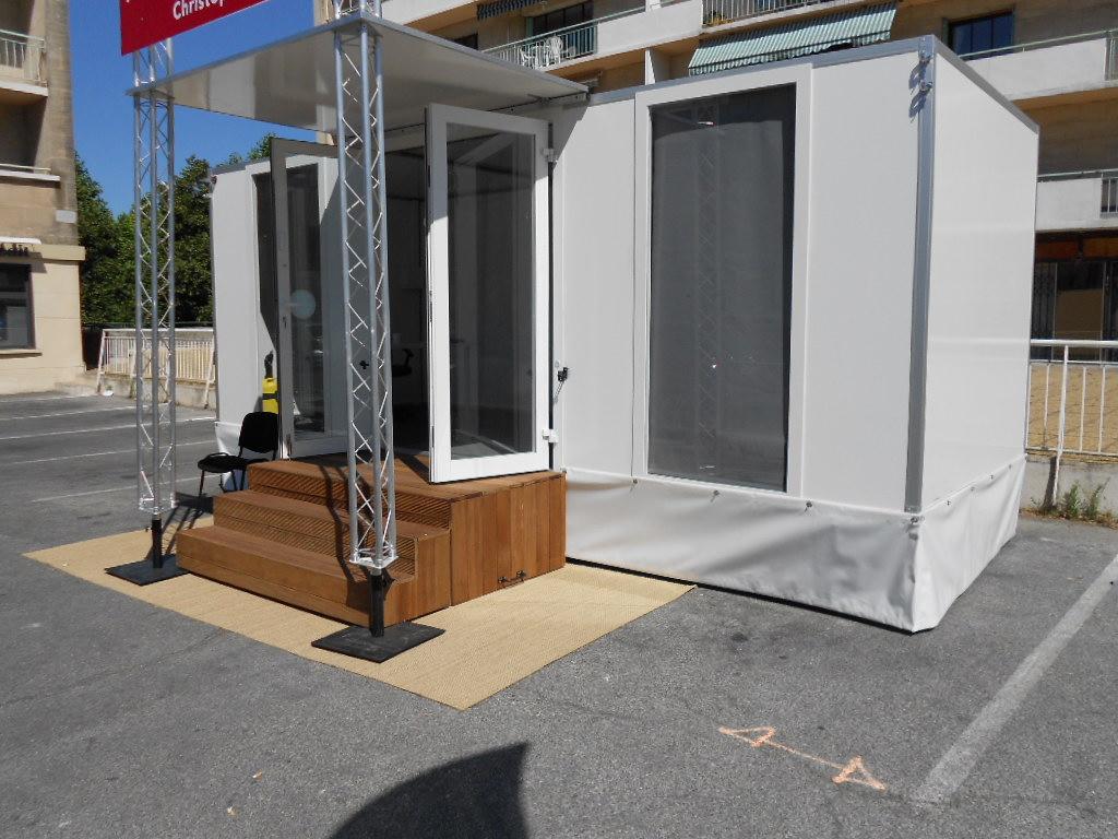 bulle de vente bureau de vente agence mobile. Black Bedroom Furniture Sets. Home Design Ideas